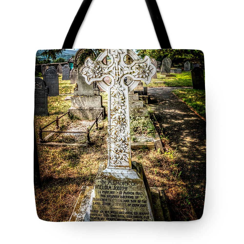 Architecture Tote Bag featuring the photograph Celtic Cross by Adrian Evans