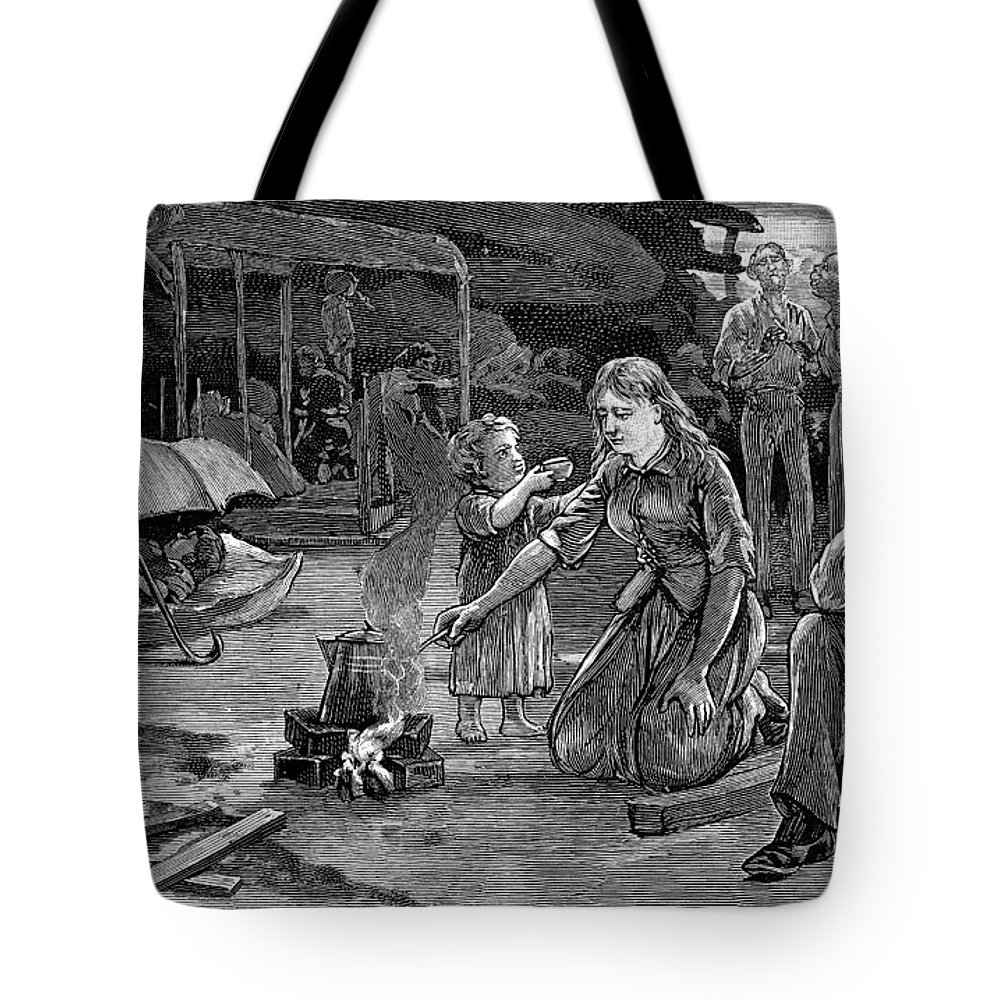 1886 Tote Bag featuring the painting Charleston Earthquake by Granger