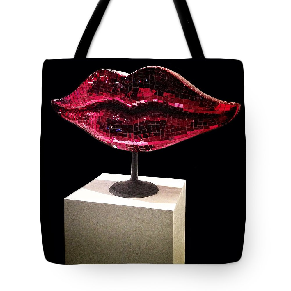 Lips Tote Bag featuring the photograph Chelsea Lips by Natasha Marco