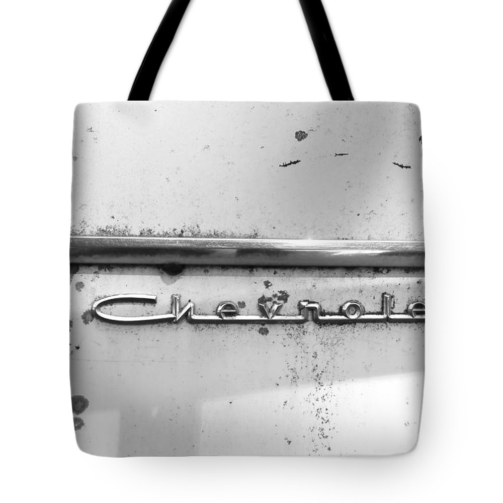 Tote Bag featuring the photograph Chevrolet by Cathy Anderson