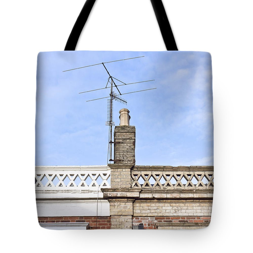 Aerials Tote Bag featuring the photograph Chimney by Tom Gowanlock