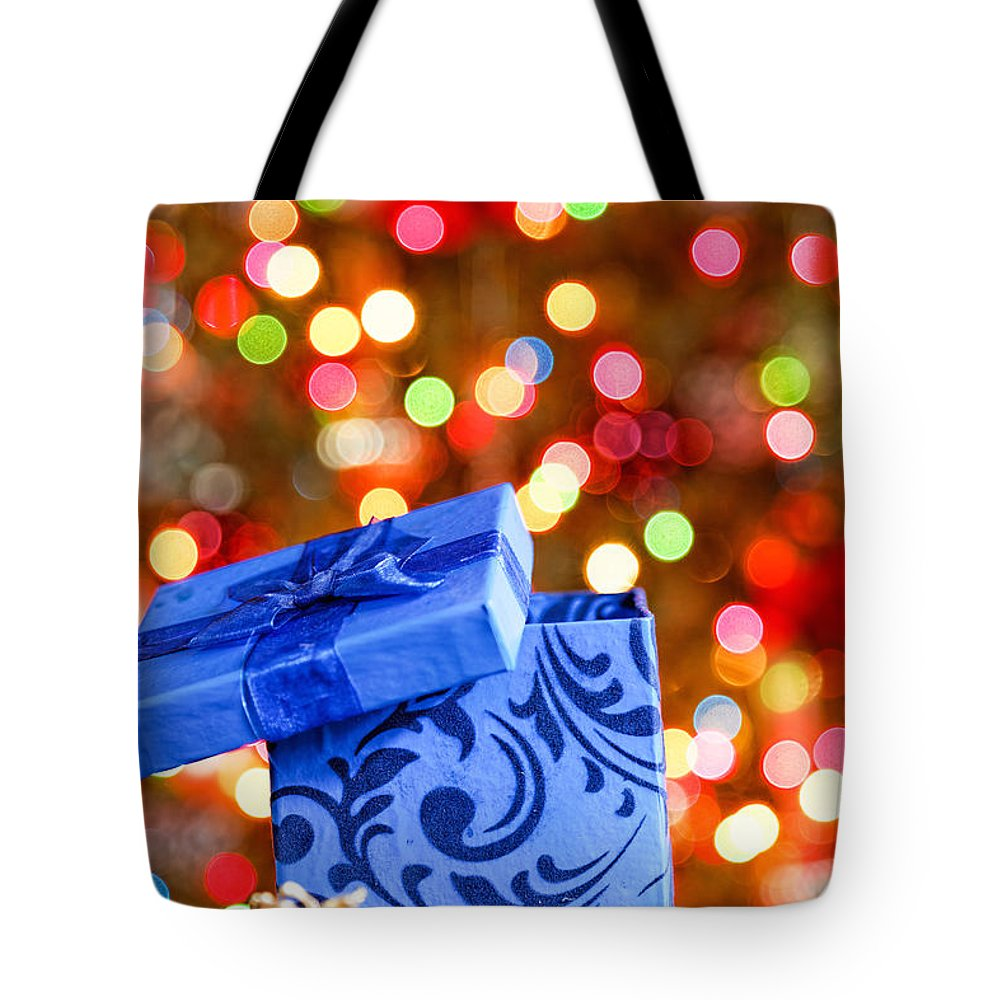 Background Tote Bag featuring the photograph Christmas Box by Peter Lakomy