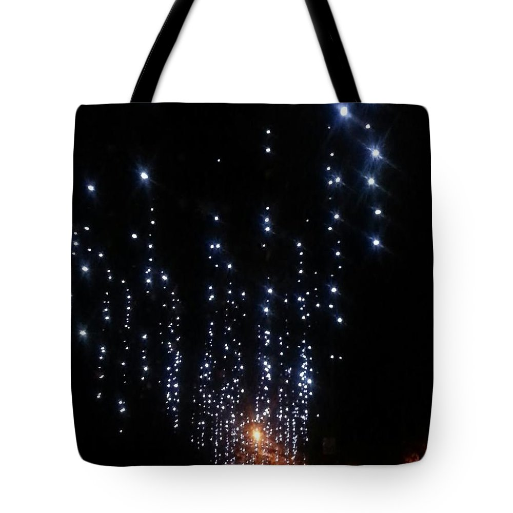 Lights Tote Bag featuring the photograph Christmas Lights by Mary Koval