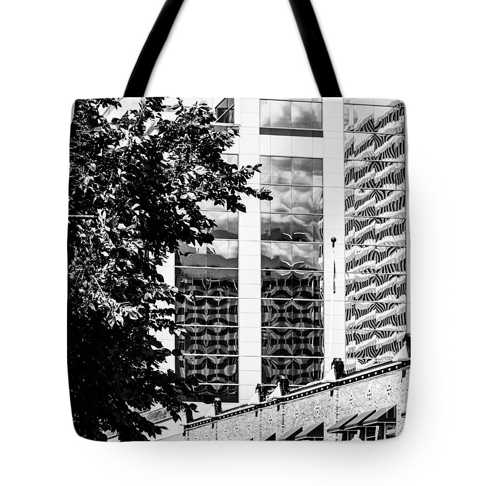 Reflections Tote Bag featuring the photograph City Center -64 by David Fabian