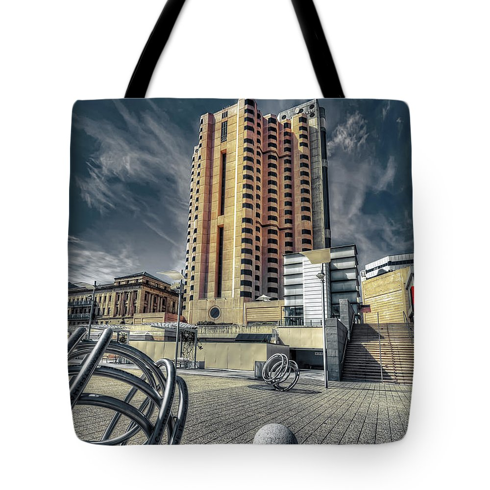 City Tote Bag featuring the photograph Cityscape by Wayne Sherriff