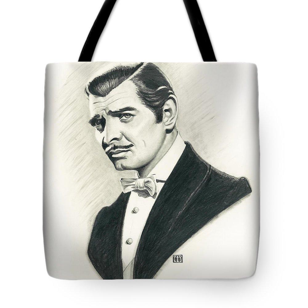 Clark Gable Tote Bag featuring the painting Clark Gable by Melissa A Benson