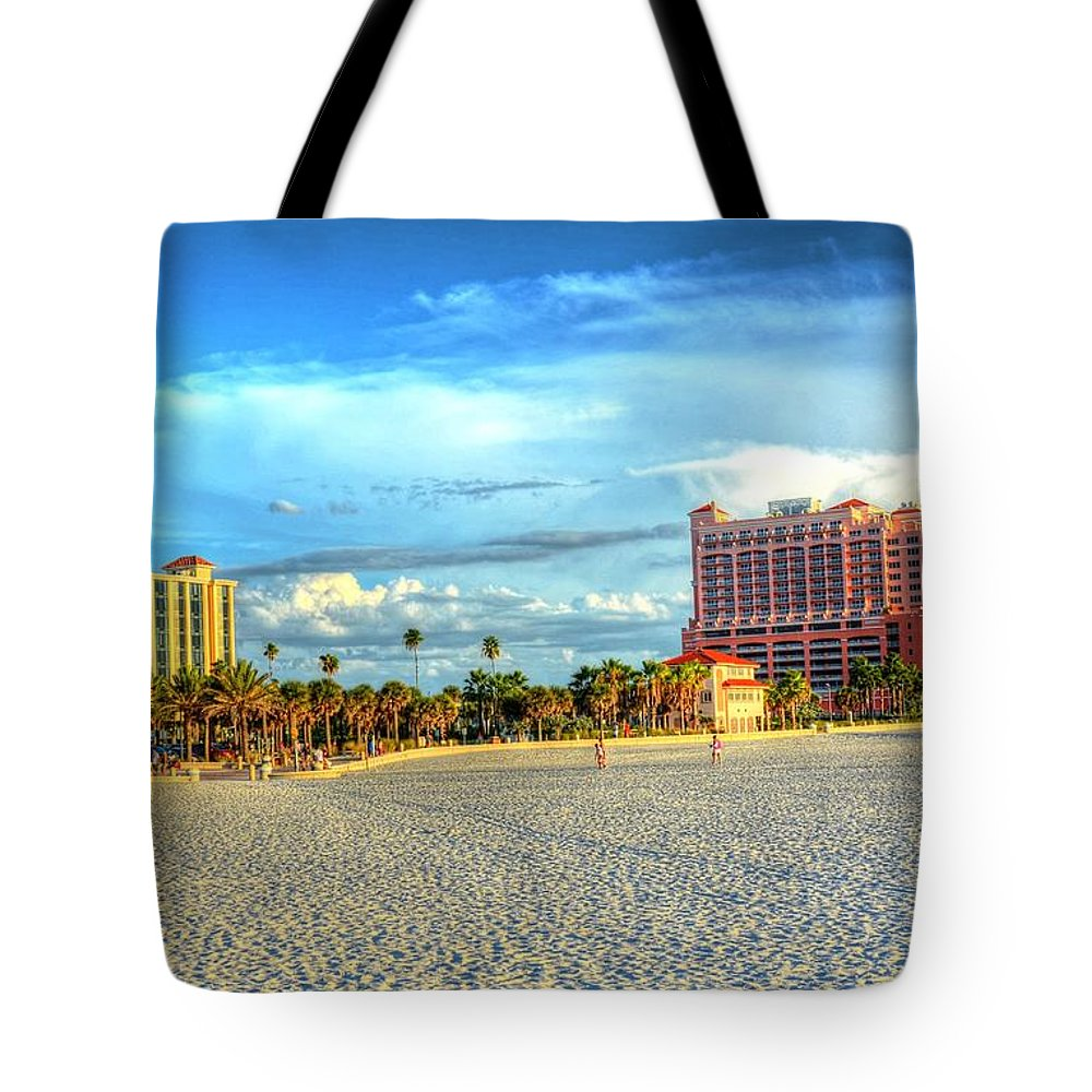 Beach Tote Bag featuring the photograph Clearwater Beach by Debbi Granruth