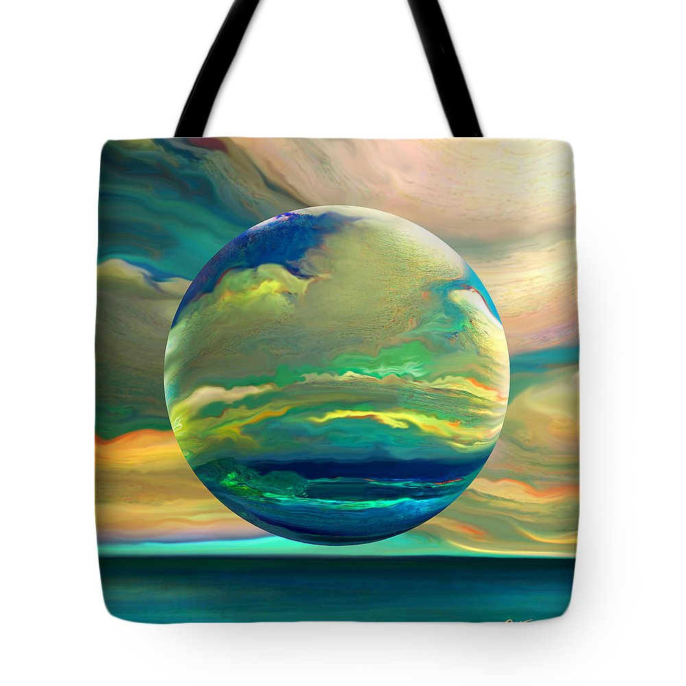 Dreamscape Tote Bag featuring the digital art Clouding The Poets Eye by Robin Moline