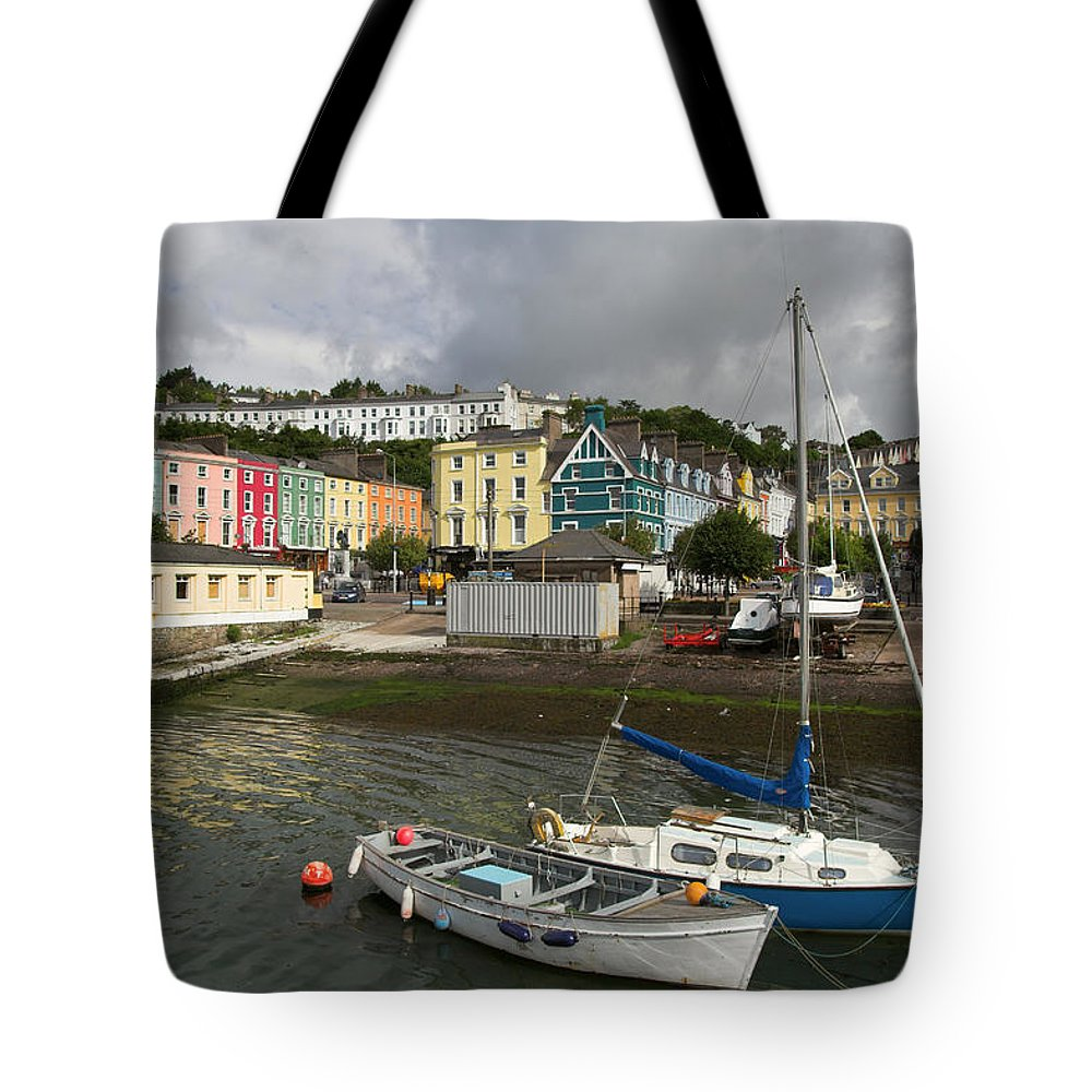 Cityscape Tote Bag featuring the photograph Cobh Town In Ireland by Artur Bogacki