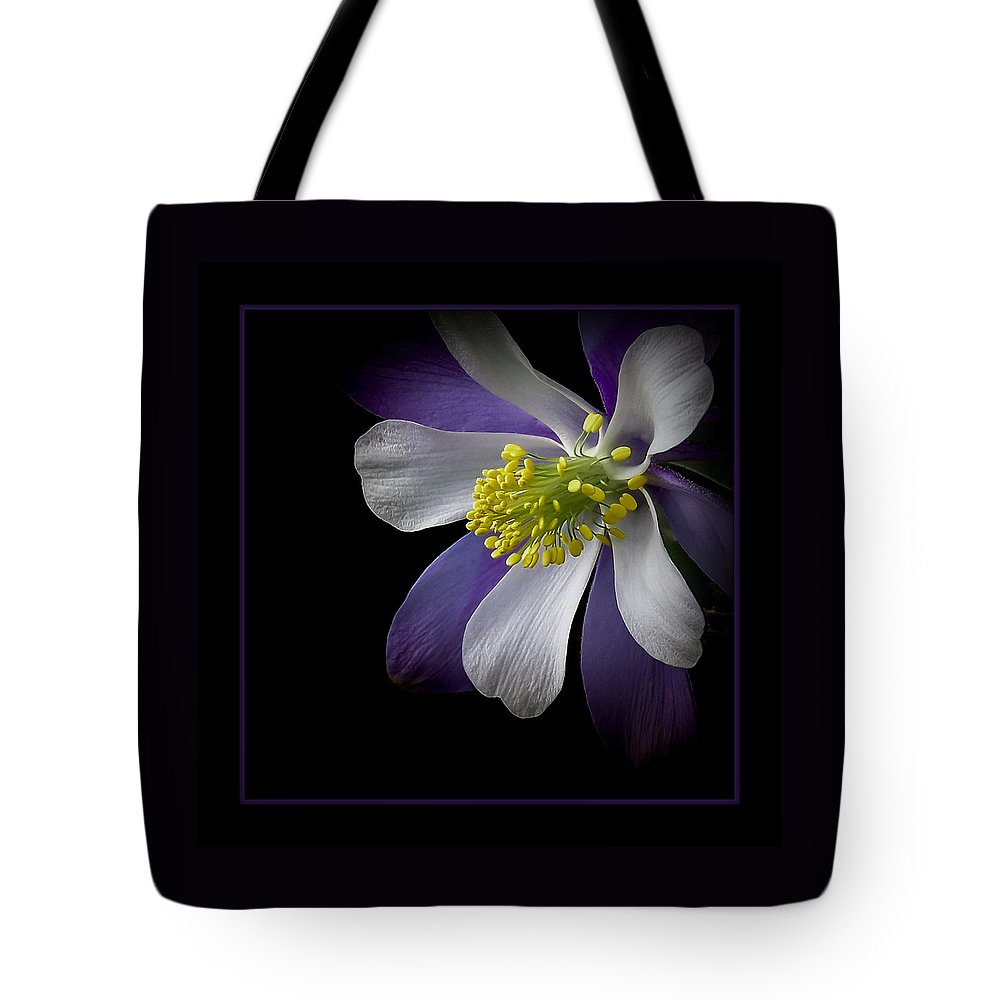 Artwork Tote Bag featuring the photograph Columbine by Ernie Echols