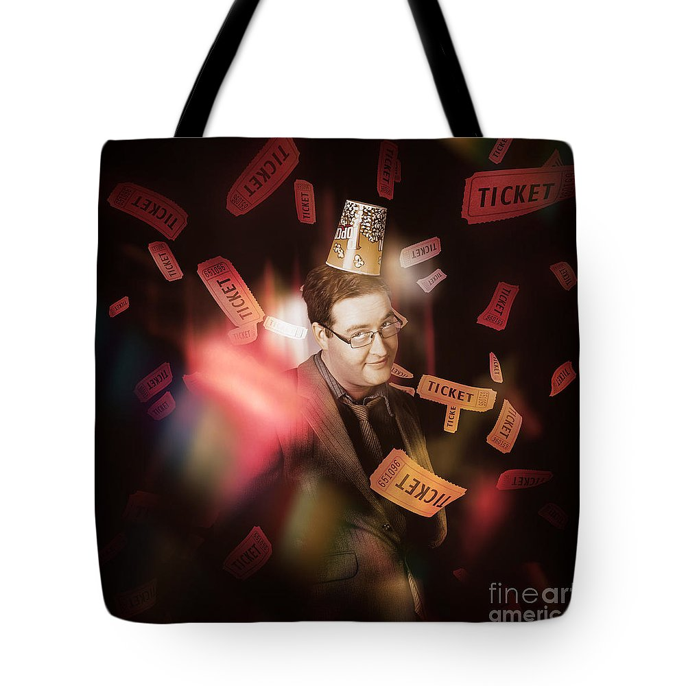 Entertainment Tote Bag featuring the photograph Comedy Entertainment Man On Theater Stage by Jorgo Photography - Wall Art Gallery