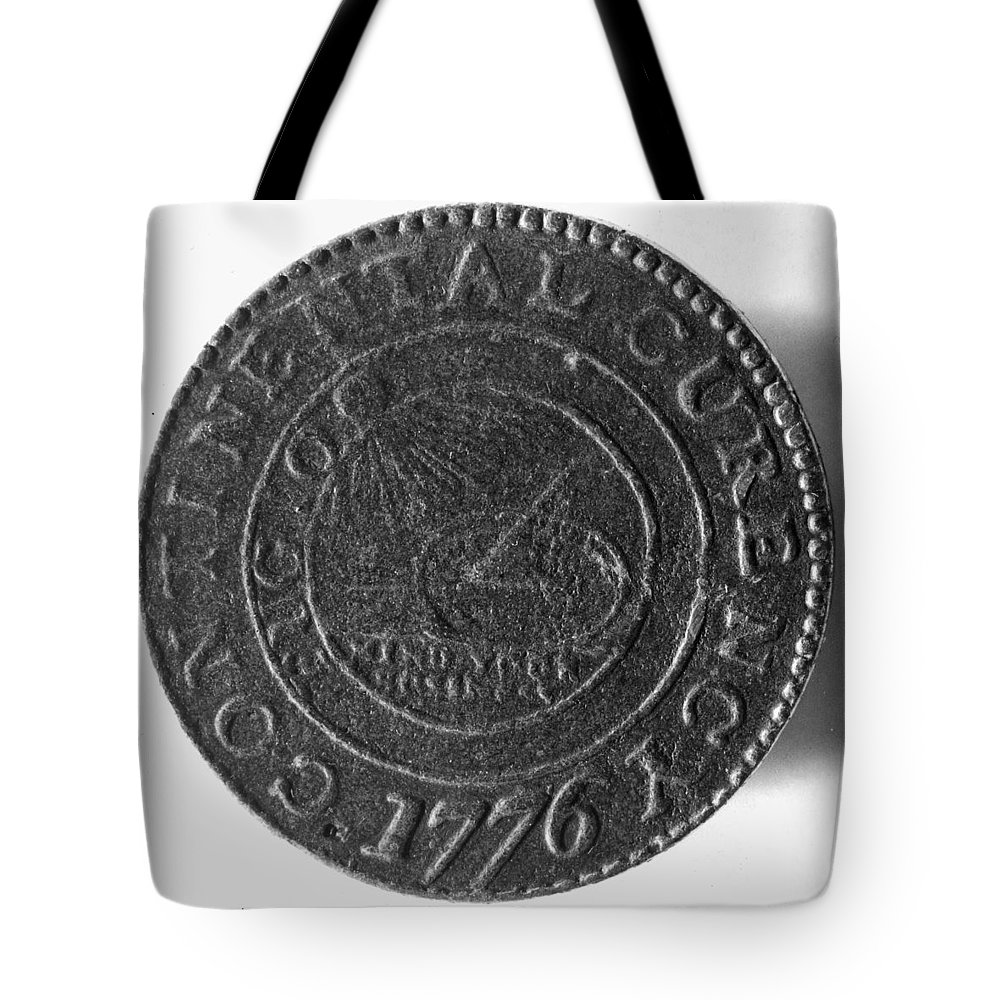 1776 Tote Bag featuring the photograph Continental Dollar, 1776 by Granger
