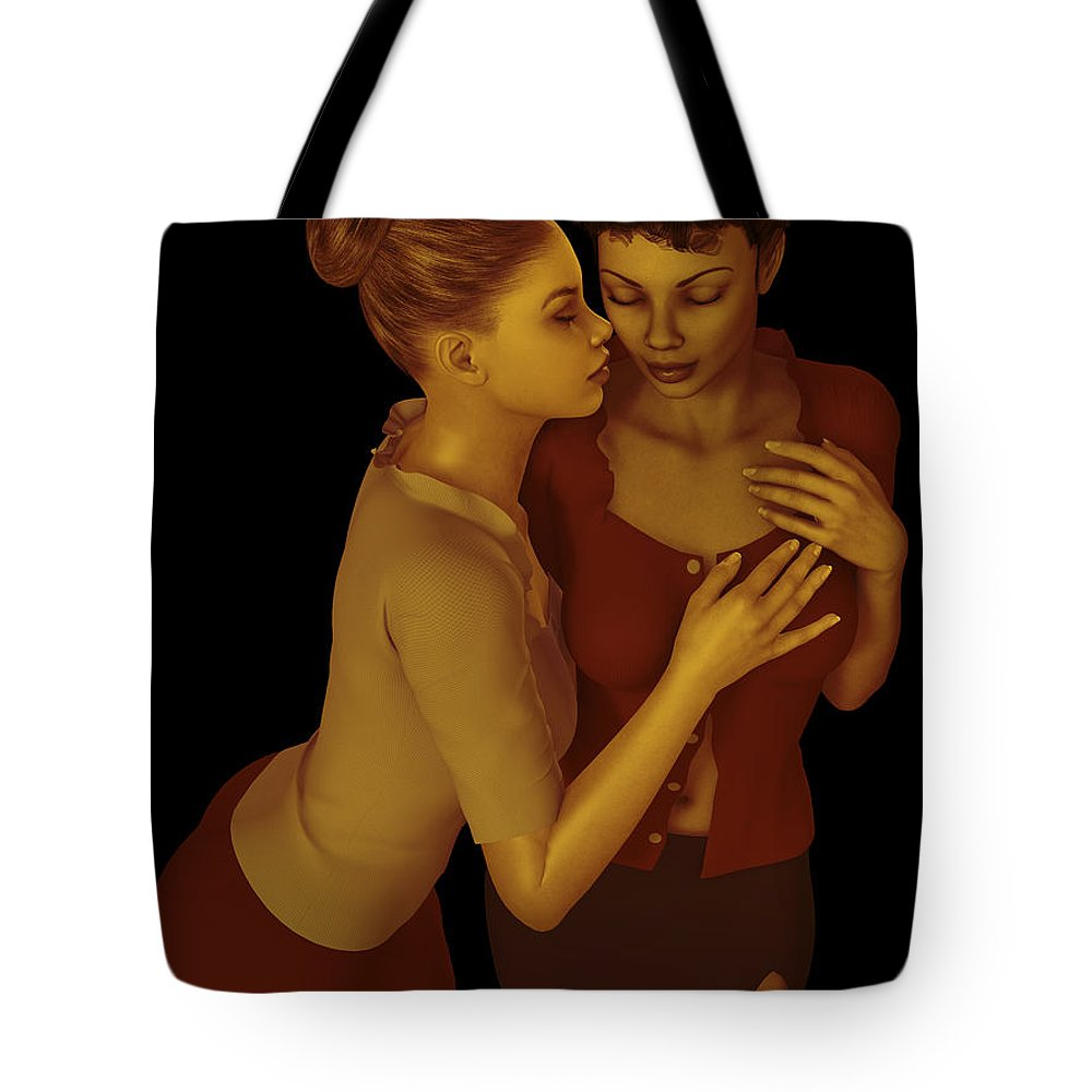 3d Tote Bag featuring the digital art Corporate Affair by Alexander Butler