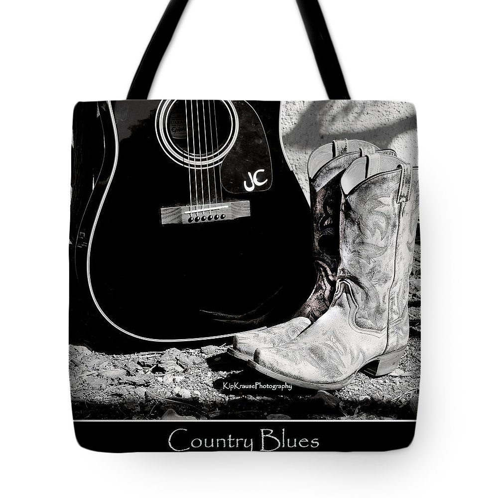 Cowboy Boots Tote Bag featuring the photograph Country Blues by Kip Krause