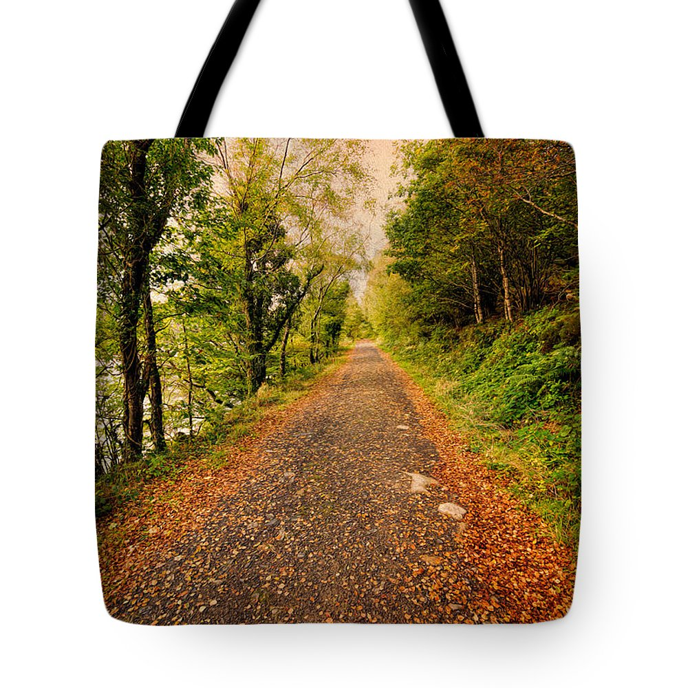 Hdr Tote Bag featuring the photograph Country Lane by Adrian Evans