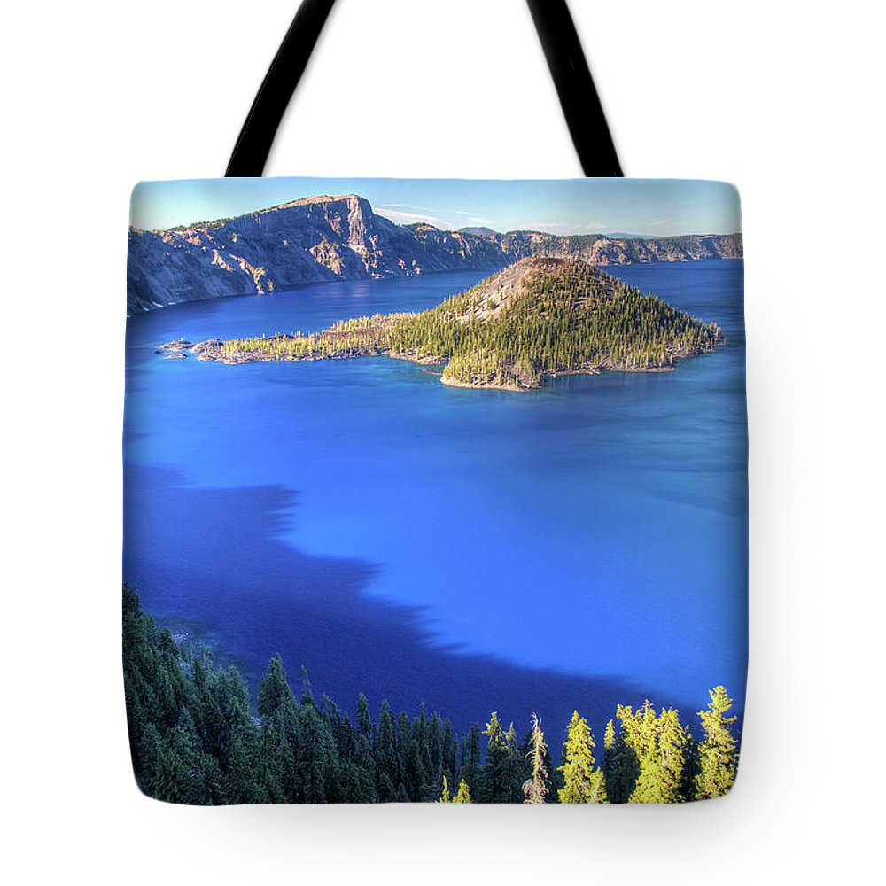 Crater Lake Tote Bag featuring the photograph Crater Lake, Oregon by Pierre Leclerc Photography