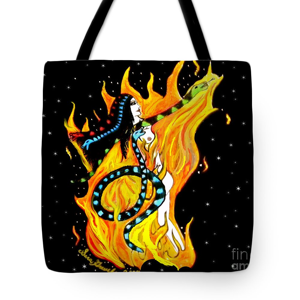Creation Tote Bag featuring the painting Creation by Sara Gravely- Comstock