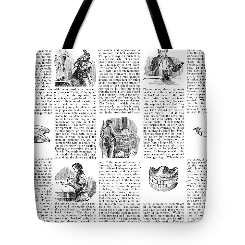 1853 Tote Bag featuring the photograph Dentures, 1853 by Granger