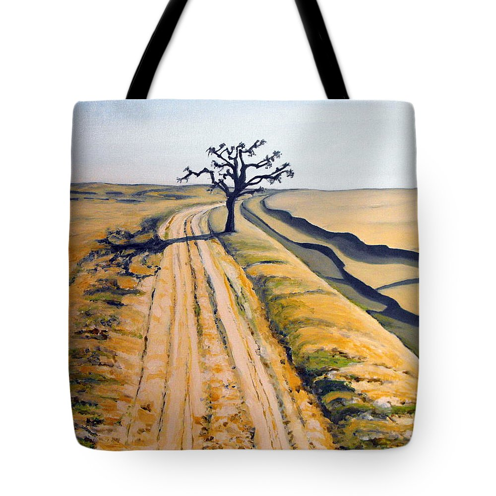 India Tote Bag featuring the painting Desert Neem by Caroline Cunningham
