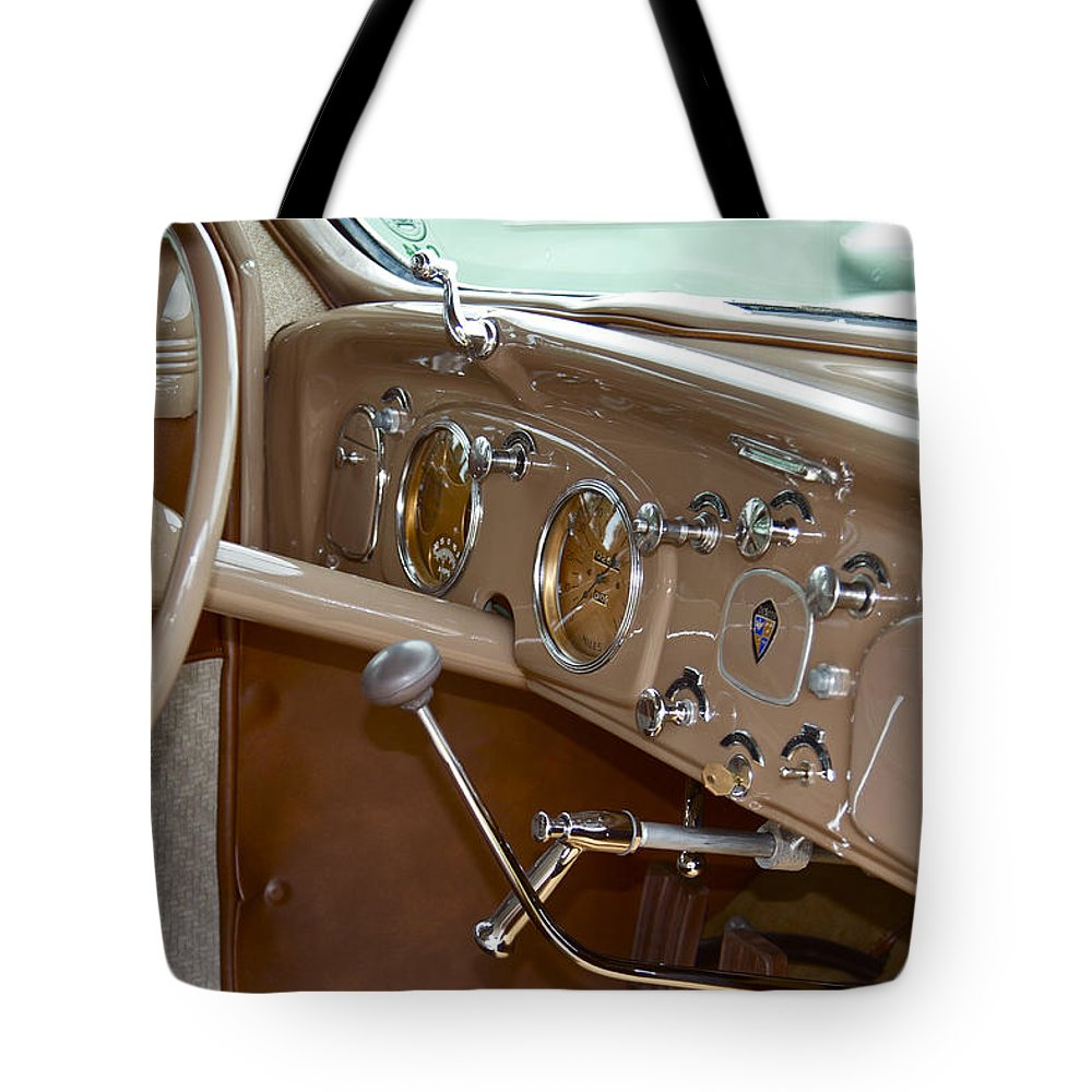Antique Tote Bag featuring the photograph Desoto by Jack R Perry