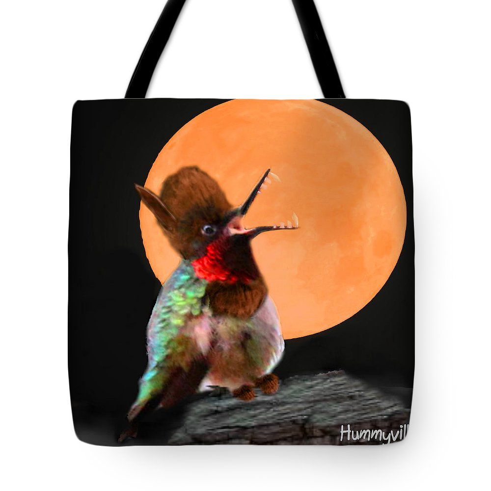 Art Tote Bag featuring the digital art Teen Hummerwolf by Diane V Bouse