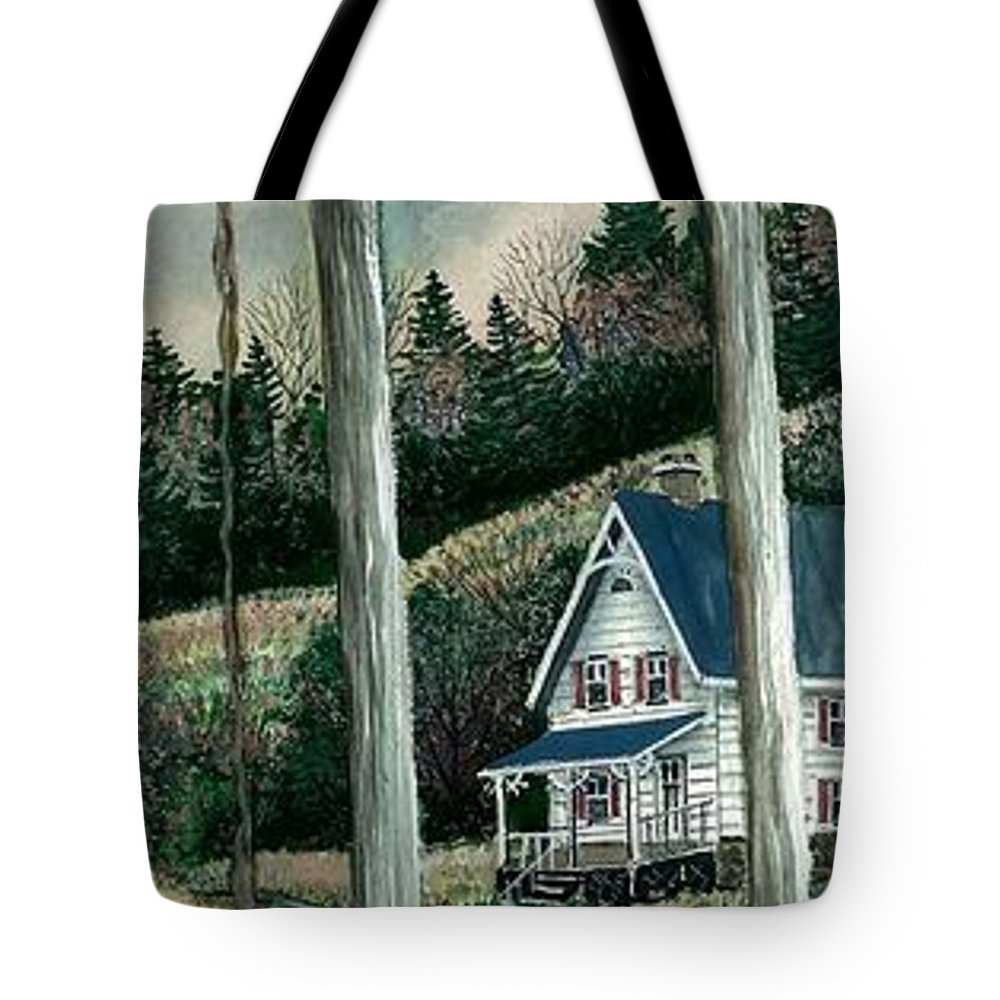 Landscape Tote Bag featuring the painting Dinner Bell by Steven Schultz