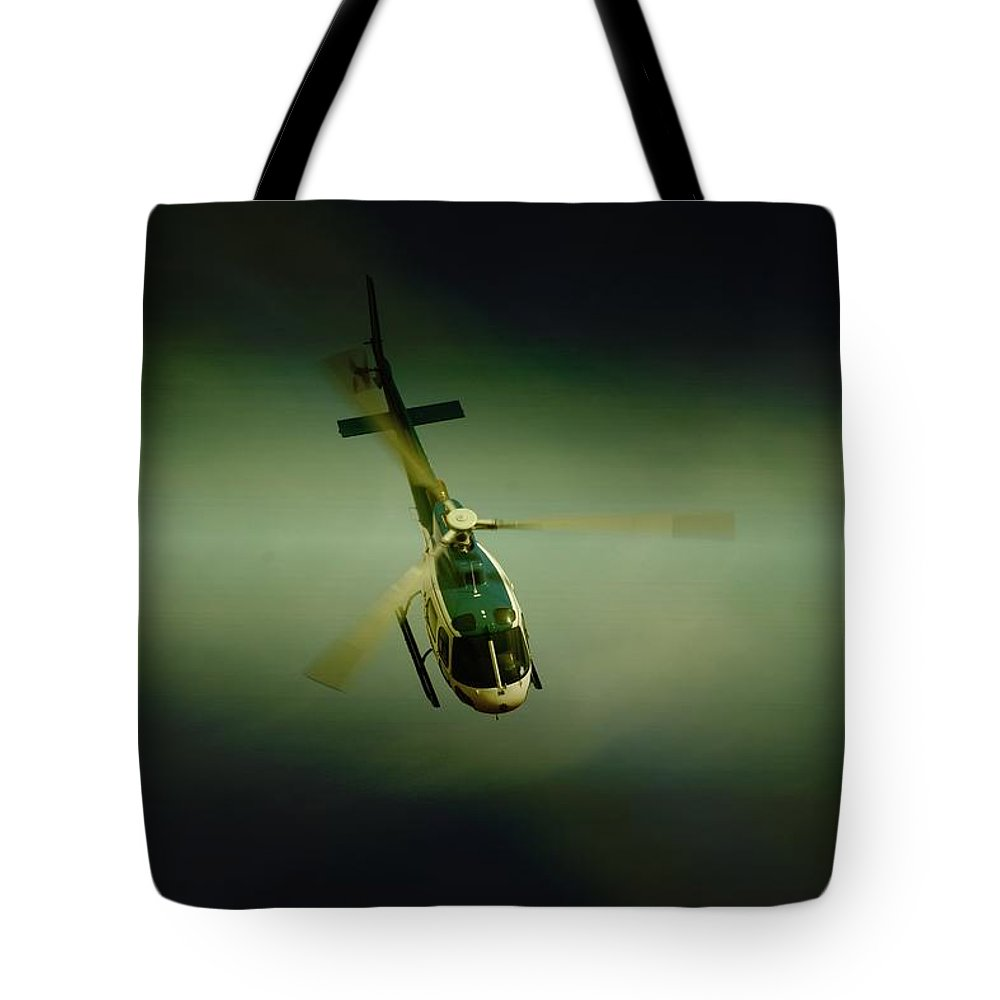 Eurocopter As350 B3 Ecureuil (squirrel) Tote Bag featuring the photograph Diving by Paul Job