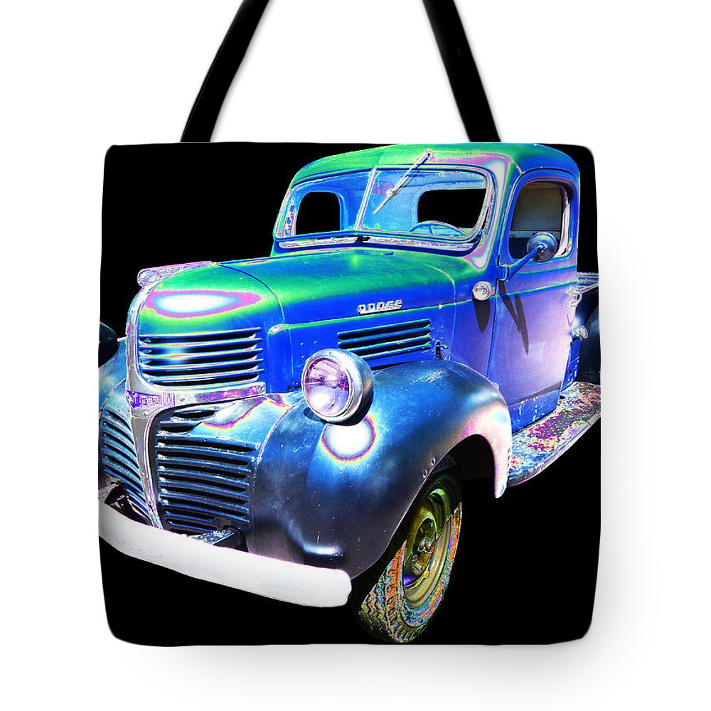 1947 Dodge Pick Up Tote Bag featuring the photograph Dodge by Allan Price