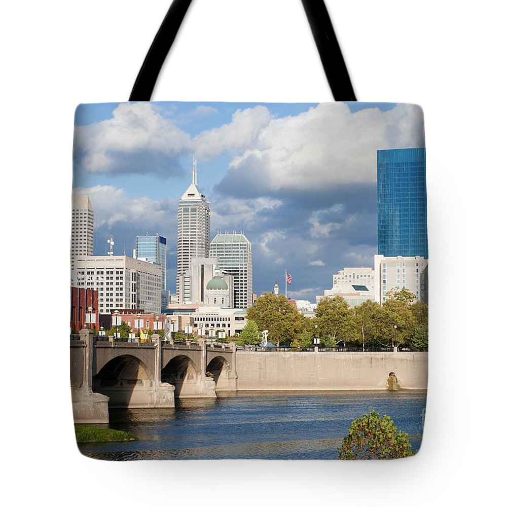 Downtown Tote Bag featuring the photograph Downtown Indianapolis Indiana by Anthony Totah