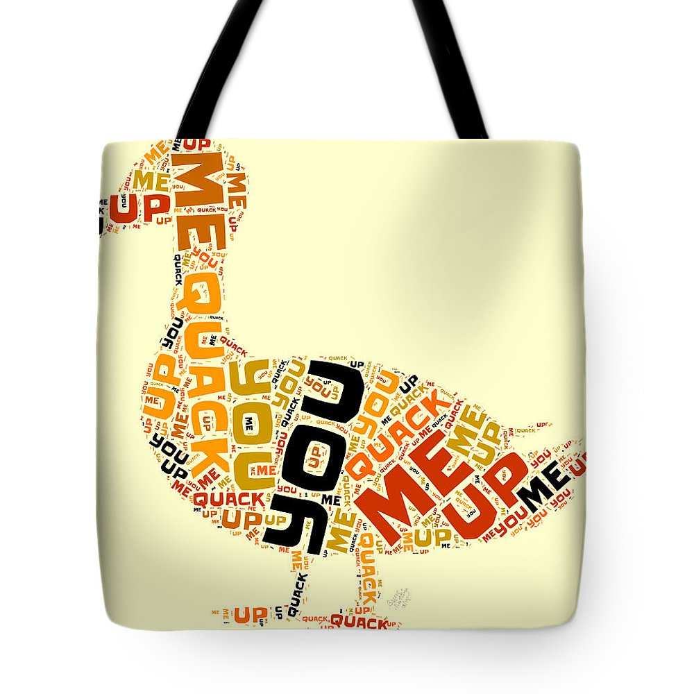Duck Tote Bag featuring the painting Duck Humor by Bruce Nutting