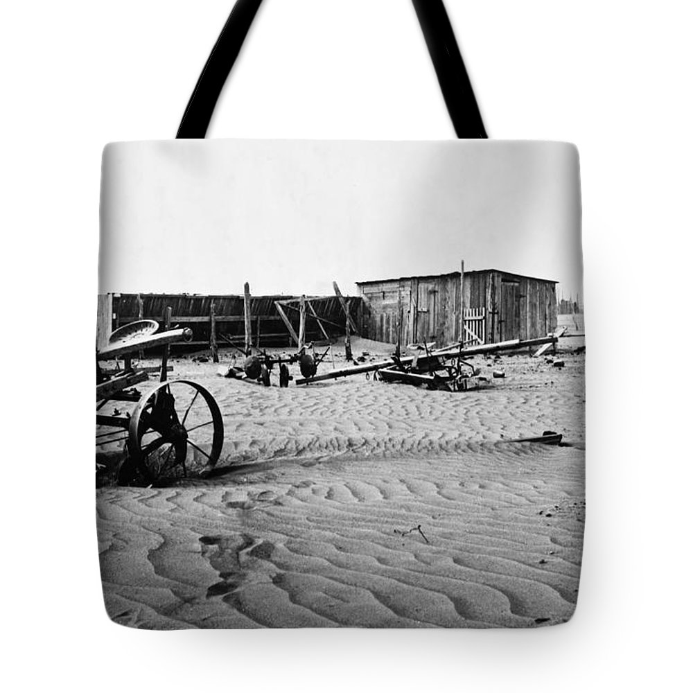 1930 Tote Bag featuring the photograph Dust Bowl, C1936 by Granger