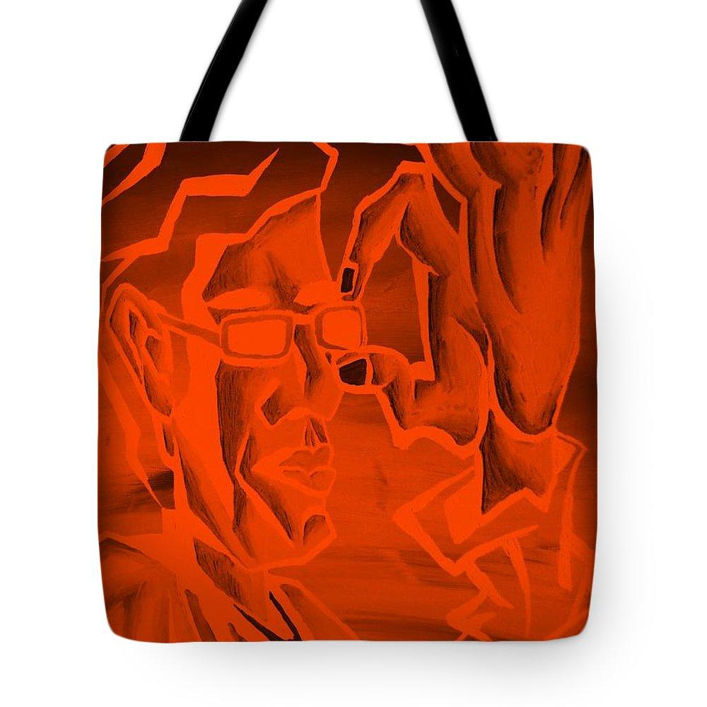 Portrait Tote Bag featuring the photograph E Vincent Orange by Rob Hans