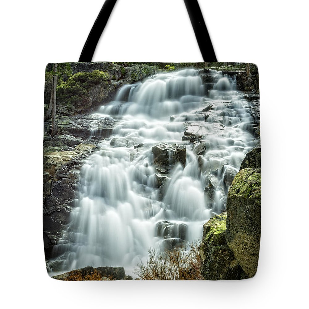 Eagle Tote Bag featuring the photograph Eagle Falls Lake Tahoe by Dianne Phelps