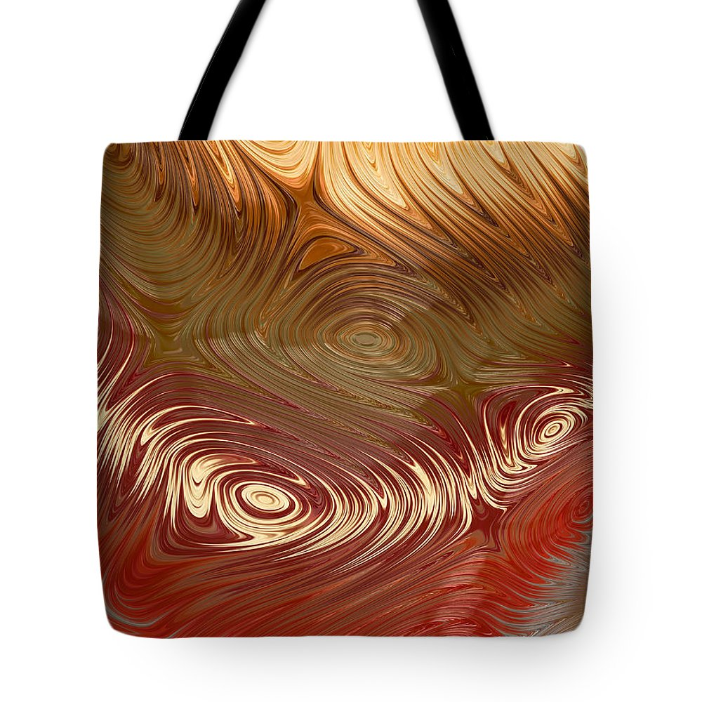 Fractal Tote Bag featuring the digital art Earth Tones by Heidi Smith