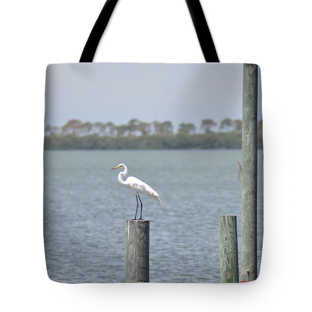 Egret Tote Bag featuring the photograph Egret by Bill Cannon