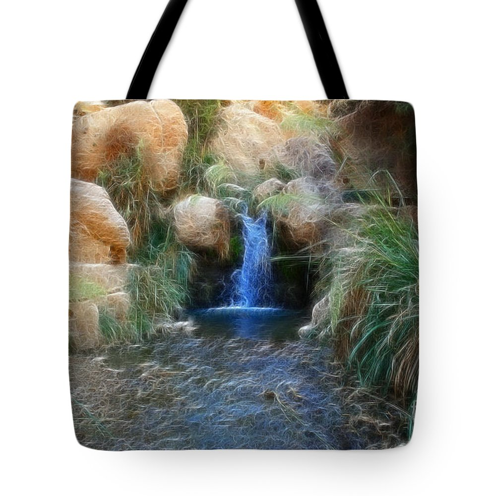 Ein Gedi Springs Tote Bag featuring the photograph Eternal Youth by Doc Braham