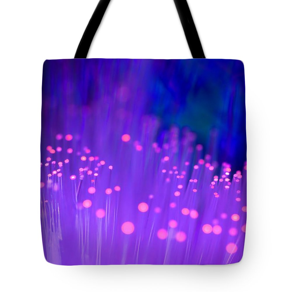 Abstract Tote Bag featuring the photograph Electric Ladyland by Dazzle Zazz