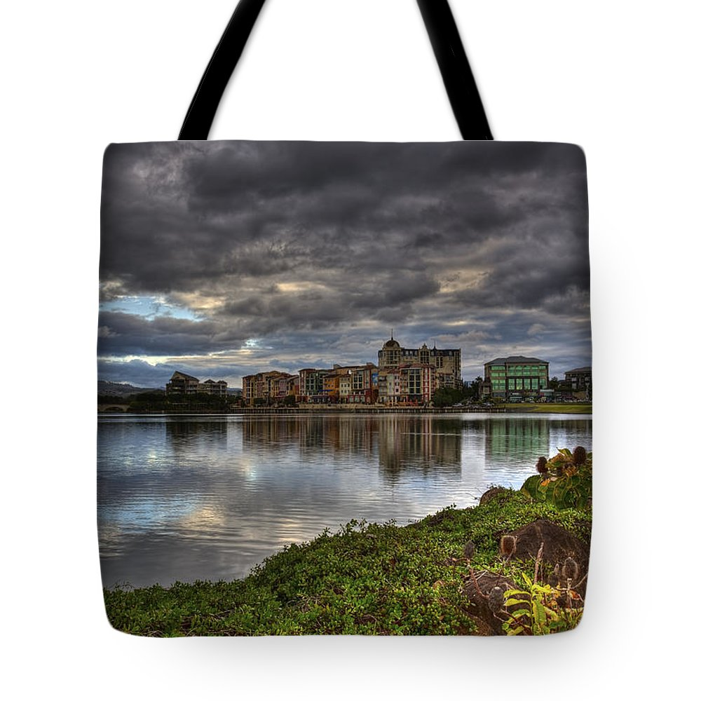 Gold Coast Tote Bag featuring the photograph Emerald Lakes by Darren Burton