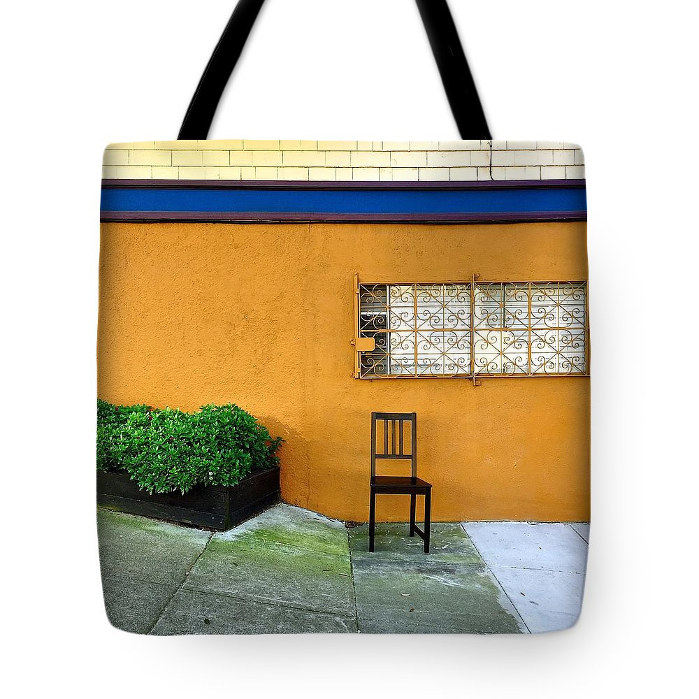 Tote Bag featuring the photograph Empty Chair by Julie Gebhardt