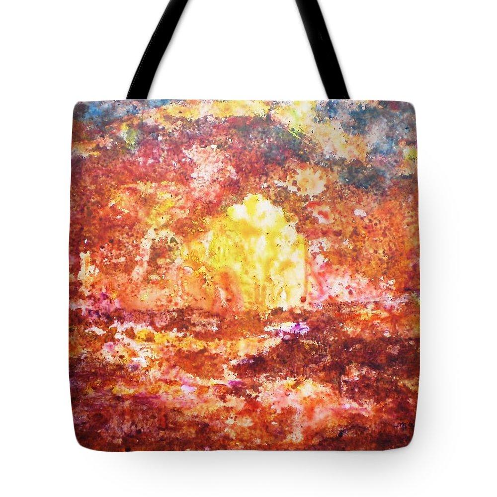 Enchanted Tote Bag featuring the painting Enchanted by Manjiri Kanvinde