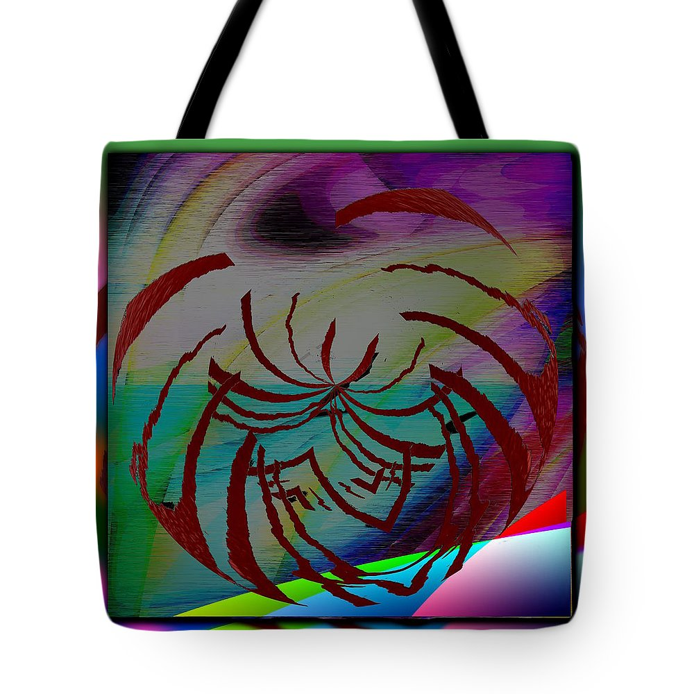 Abstract Tote Bag featuring the digital art Enveloped 3 by Tim Allen