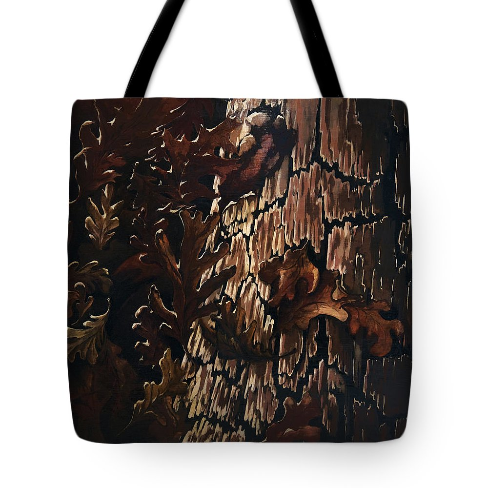 Abstract Tote Bag featuring the painting Eruption by Rachel Christine Nowicki