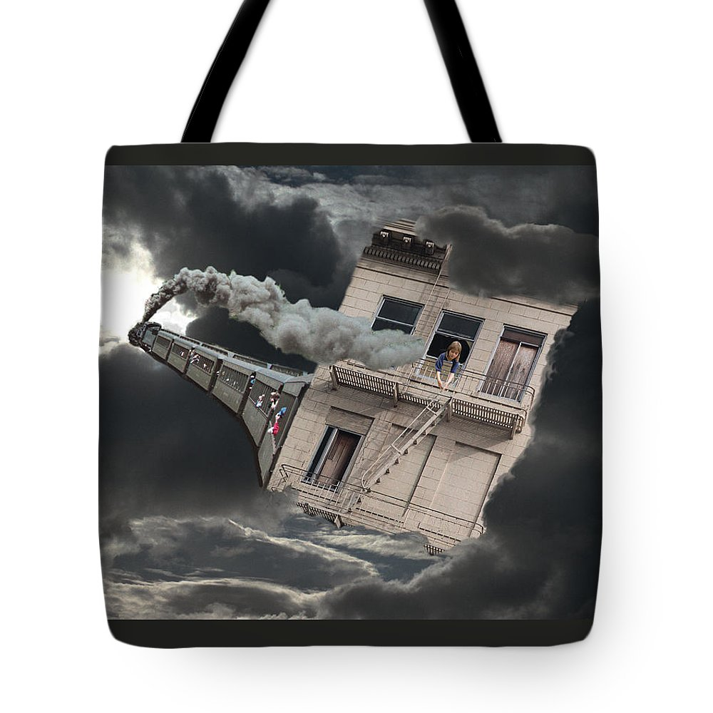 Escape Tote Bag featuring the digital art Escape by Lisa Yount