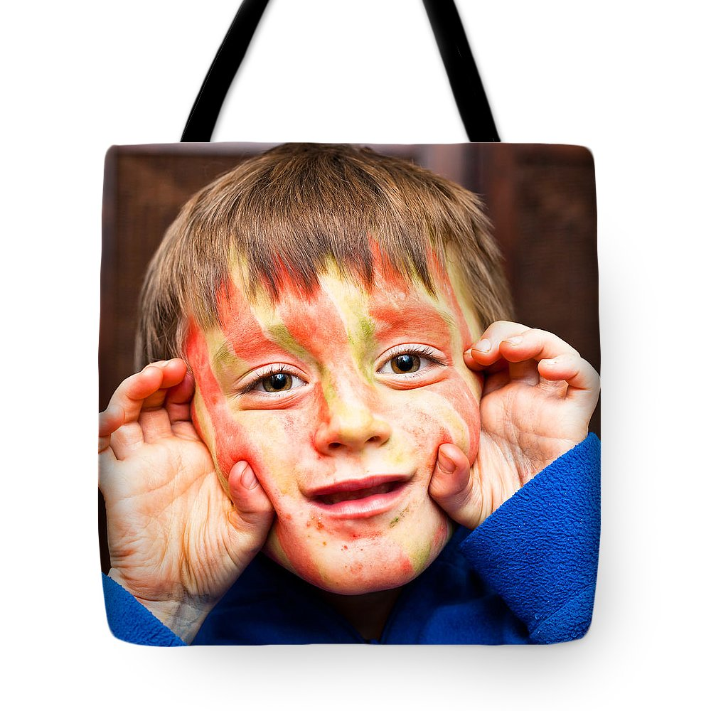 Adorable Tote Bag featuring the photograph Face Paint by Tom Gowanlock