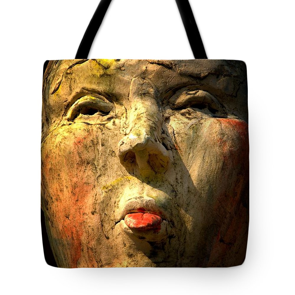 Newel Hunter Tote Bag featuring the photograph Facing It by Newel Hunter