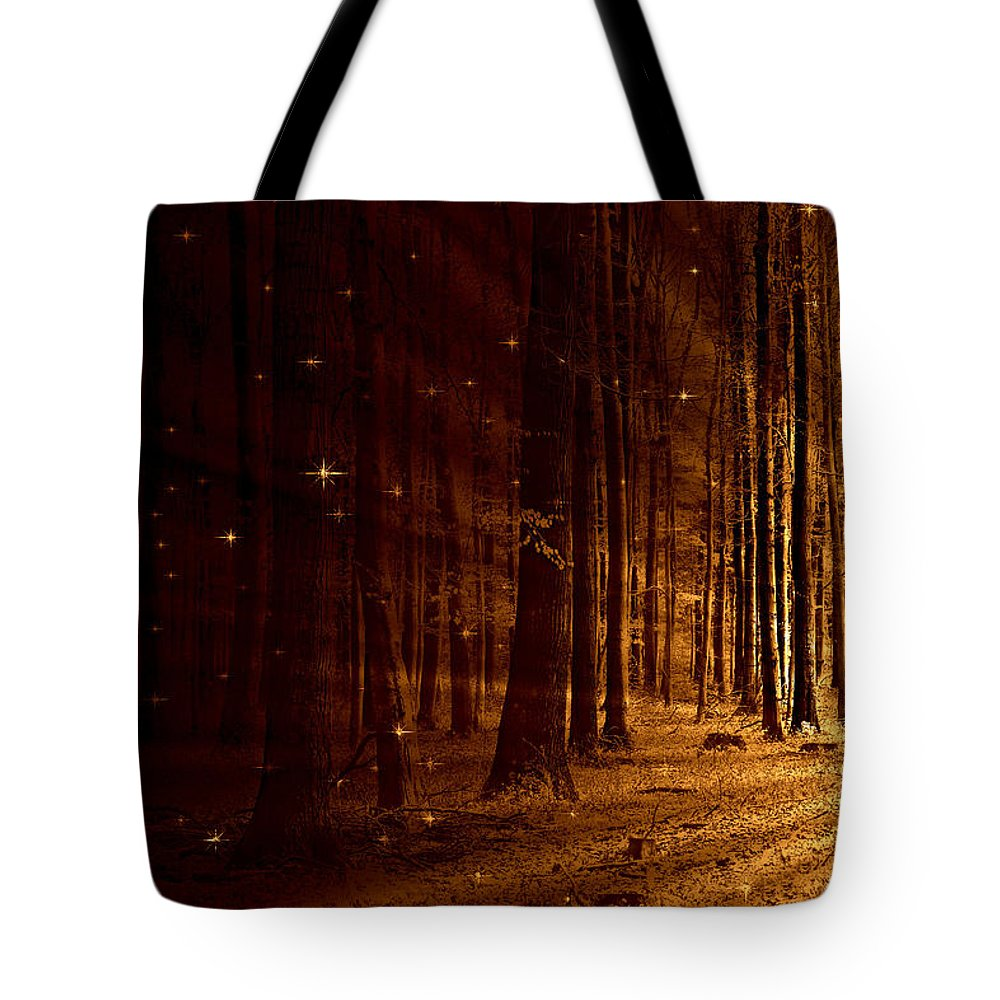 Flora Tote Bag featuring the mixed media Fairy Forest by Heike Hultsch