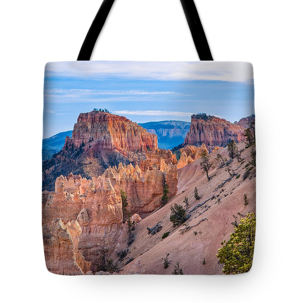 Landscape Tote Bag featuring the photograph Farview Point At Bryce Canyon by John M Bailey