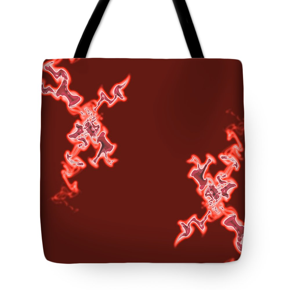 Two Tote Bag featuring the photograph Fire by Lali Kacharava