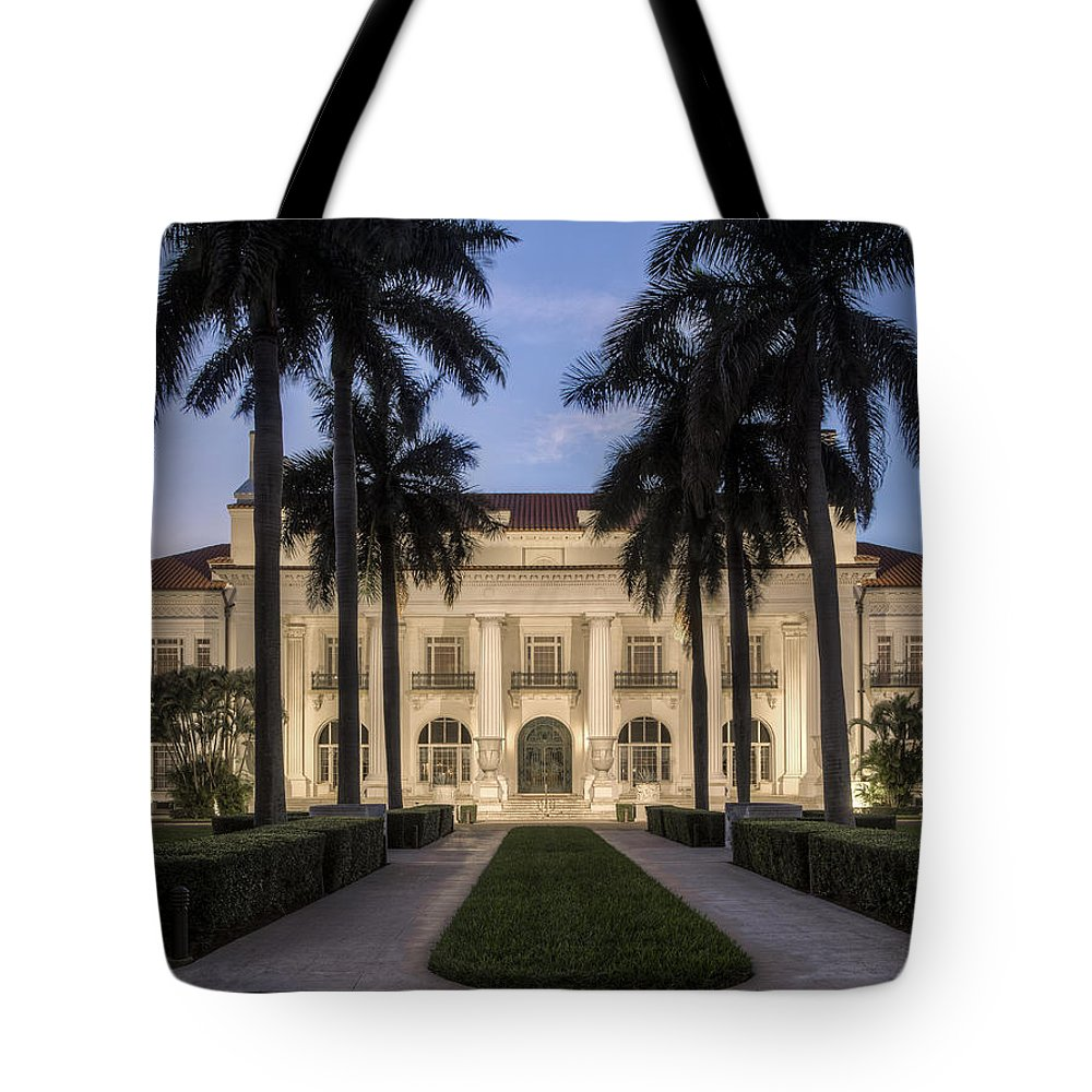 Flagler Tote Bag featuring the photograph Flagler Museum by Debra and Dave Vanderlaan