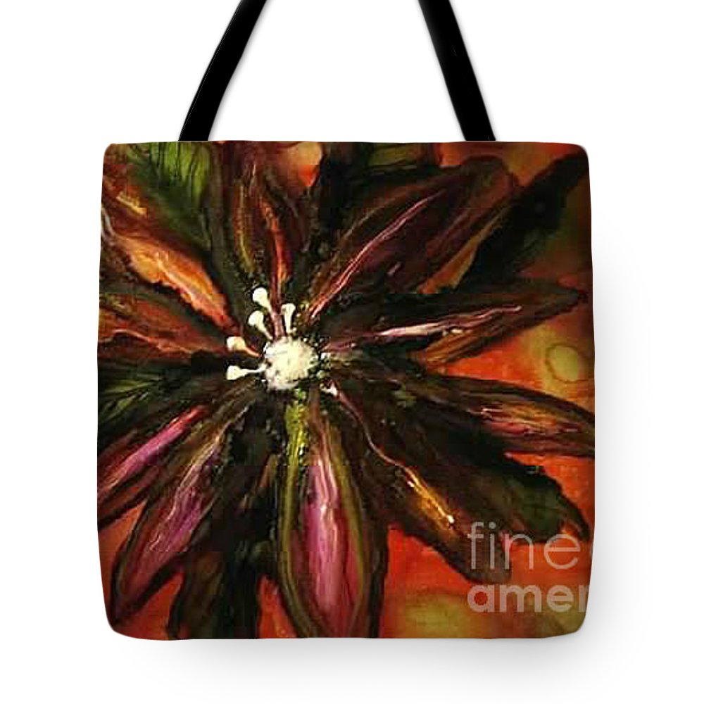 Fleur Tote Bag featuring the painting Fleur De Margaret by Kim Peto